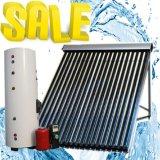 分割加圧太陽暖房装置またはヒートパイプのソーラーコレクタの給湯装置