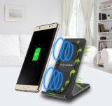 Soporte de teléfono móvil inalámbrica rápida Cargador con ventilador de refrigeración para el iPhone 8/Samsung S7