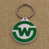 PVC Keychain de Supply 10% Discount Promotion 2D Rubber Soft da fábrica