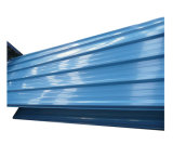 Couleur RAL5020 Feuille de toiture en métal galvanisé peint