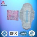 L'anion respirant coton femelle de serviettes sanitaires pour les femmes