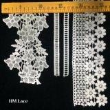 Lace Hmのファクトリー・アウトレットの最も新しいデザインによって刺繍される花の葉のトリムのレース