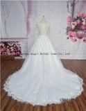 Vestido de casamento elegante da faixa do Bowknot do Ruche do vestido de esfera do querido