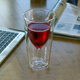 Hechos a mano la copa de vino de forma creativa Cóctel de doble pared de cristal de Cocktail Martini cristal