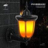 Erstklassiges Solarcup-Flamme Balze Rasen-Wand-Dekoration-Laterne-Lampen-Licht des feuer-2019