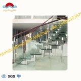 Acciaio di vetro portatile interno moderno cinese dell'inferriata/scala di vetro di legno