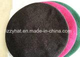 Мода шерсти трикотажные обычная береты с узлом в фиолетовый цвет