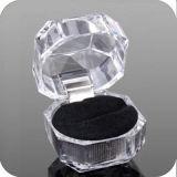 Акриловая коробка кольца для переносных сумок индикации упаковки Jewellery прозрачных для сбывания подарка кольца горячего