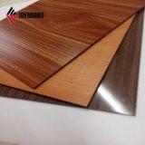 Comitato composito di alluminio decorativo di legno di sguardo PVDF
