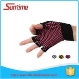 2016 le meilleur vendant les gants organiques de Pilates de yoga de coton, gants Fingerless de poignée d'exercice de Pilates de yoga, non gants de glissade