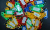 Étiquettes en plastique décoratives de coup de trousseau de clés pour l'hôtel