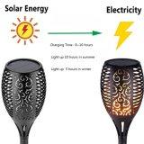 Flama realística de cintilação da dança da luz da tocha do diodo emissor de luz da lâmpada do gramado da flama solar nova