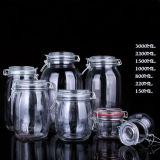 Os utensílios de vidro isento de chumbo jarra alimentar grandes recipientes alimentares de vidro de tamanho