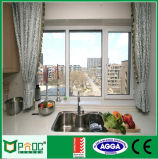 Fenêtre à battant en aluminium avec le verre trempé