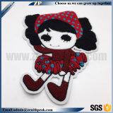 돋을새김된 로고 다채로운 귀여운 소녀 자수 패치에 의복 지팡이
