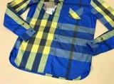 Overhemden van de Koker van het Garen van 100%Cotton van mensen de Kleurstof Geweven Lange