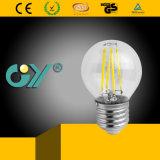 4W 320lm Ce RoHS SAA E14 / E27 Filamento del LED G45