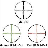 Mil-POINT vert rouge de portée tactique du fusil 2.5-10X40 illuminé