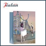 Sacs de papier de cadeau de Garments Packaging Shopping Carrier de mode de Madame