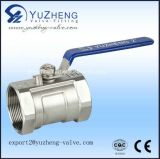 F/F Thread Estremità Mini Ball Valve con Stainless Steel Material