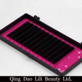 Prolonge de cil de vison de marque de distributeur de modèle de beauté de Lili/prix de gros neufs d'aperçus gratuits