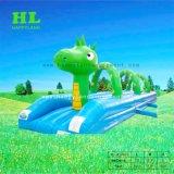 Green Dragon gonflable de jeu de l'eau glissoire d'eau pour les enfants