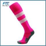 O esporte das meias do futebol golpeia peúgas longas do futebol Joelho-Elevado de Legging do joelho