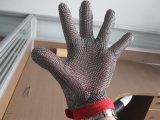 1ペアの安全金網の切られた抵抗力があるステンレス鋼の手袋