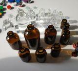 Botella de vidrio ámbar de aceite esencial para el cuidado personal