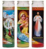 [7دس] مكسيك سوق نصب تذكاريّ شمعة دينيّة في مرطبان زجاجيّة