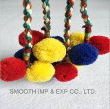 Мода Multi-Colors хлопка экранирующая оплетка кружева Яркие шары Pompoms пойди ремня безопасности