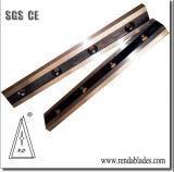 Lâminas de corte reta longa com estrita Triple-Tempering para corte de chapas de aço