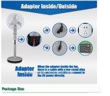 "Ahorro de energía 12V 16 ""Solar Standing Fan"