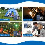 ホーム屋外のキャンプのためのファンキットとLEDライトを満たす3*3W太陽エネルギーのパネルUSB