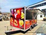 Nouveau design personnalisé alimentaire mobile de la remorque avec fenêtres coulissantes
