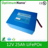 長い時間のサイクルLiFePO4 12V 25ah UPS電池