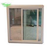 Cadre blanc UPVC fenêtre en verre unique pour la vente