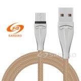 Cavo Braided in lega di zinco del caricatore del USB della rete da pesca per Huawei