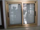 グリルデザインの高品質の青銅色カラーアルミニウムスライディングウインドウ