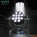 12 * 10W CREE RGBW 4in1 LED Mini viga principal móvil de la
