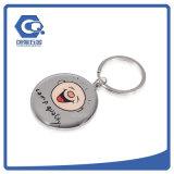 Дешевый оптовый логос таможни ключевой цепи письма металла ключевого кольца металла