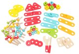 78pcs Bloque de construcción de madera Set de juguetes para niños y los niños
