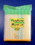 La bande colore les pailles à boire flexibles