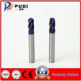 4 flautas HRC50 Carboneto sólido Ferramenta de máquina CNC do nariz de Esferas