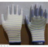 13 Индикатор резервуара полиэстер перчатки с PU покрытием для электронной промышленности