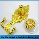 Ganchos de leva plásticos de Tieback de la cortina de los Holdbacks de la cortina de la flor de oro de Hotsale
