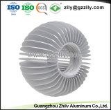 Profiel Heatsink van het Aluminium van de Vorm van de Zonnebloem van de Verkoop van de Fabriek van ISO het Directe