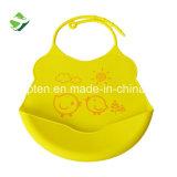 卸し売り柔らかく環境に優しいプラスチックシリコーンゴムの赤ん坊の胸当て