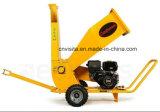 desfibradora Chipper de madera de la gasolina profesional de 420cc 15HP, trituradora de residuos verde