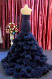 Robes de dames de soirée de bleu marine de sirène d'amoureux